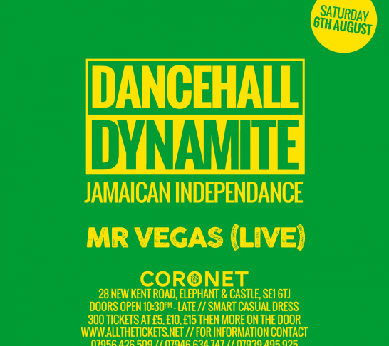 Dancehall Dynamite : Mr Vegas Live : Jamaican Independence