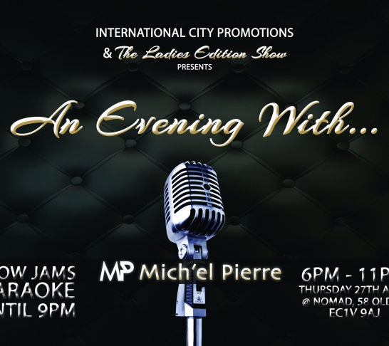 An Evening With Mich'el Pierre