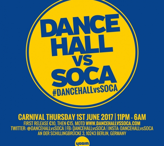 Dancehall vs Soca Berlin | Carnival Thursday