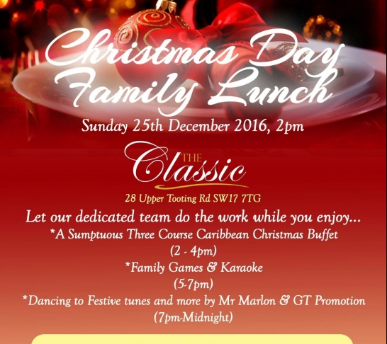 Christmas Day Family Lunch
