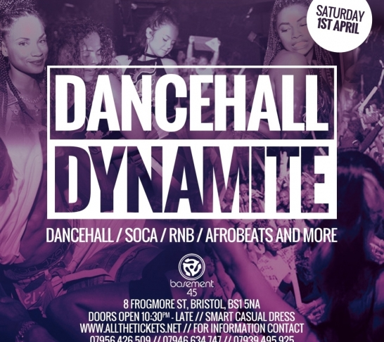 Dancehall Dynamite Bristol | 1st April