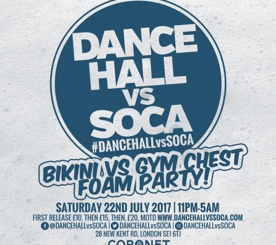 Dancehall vs Soca London | Bikini vs Gym Chest Foam Party