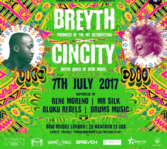 Tribal Soul & DrumsxVibes Present: BREYTH & CINCITY LIVE