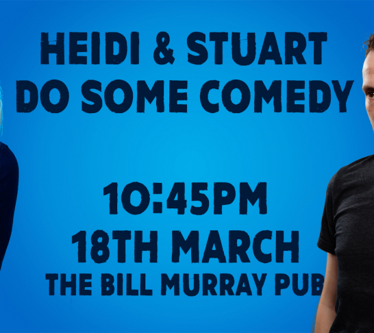 Heidi Regan & Stuart Laws do some comedy