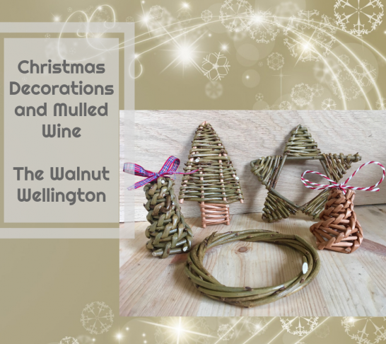 Willow Christmas Decorations and Mulled Wine Evening