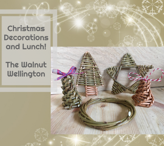 Willow Christmas Decorations and Lunch!