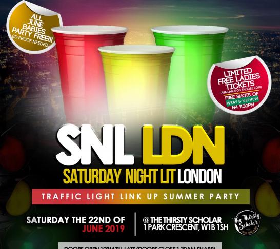 SNL LDN- Traffic Light Summer Link Up Party!