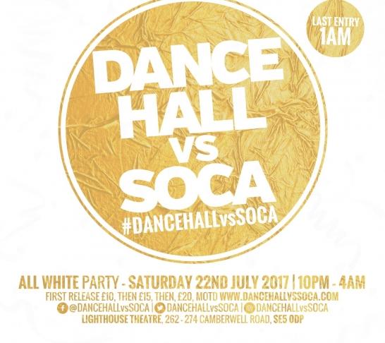 Dancehall vs Soca London : All White Summer Party