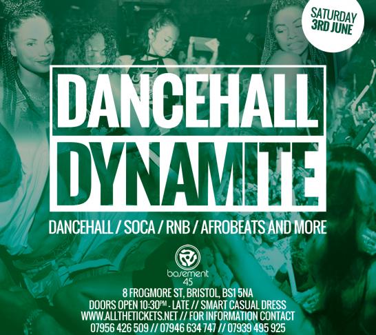 Dancehall Dynamite Bristol | 3rd June
