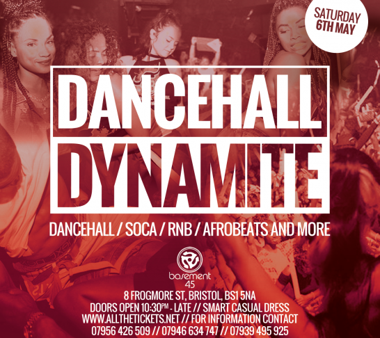 Dancehall Dynamite Bristol | 6th May