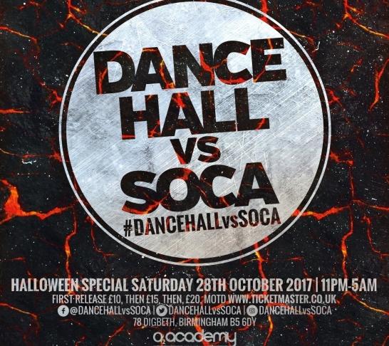Dancehall vs Soca Birmingham : Halloween Special
