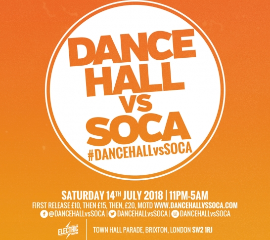 Dancehall vs Soca London : Summer Clash