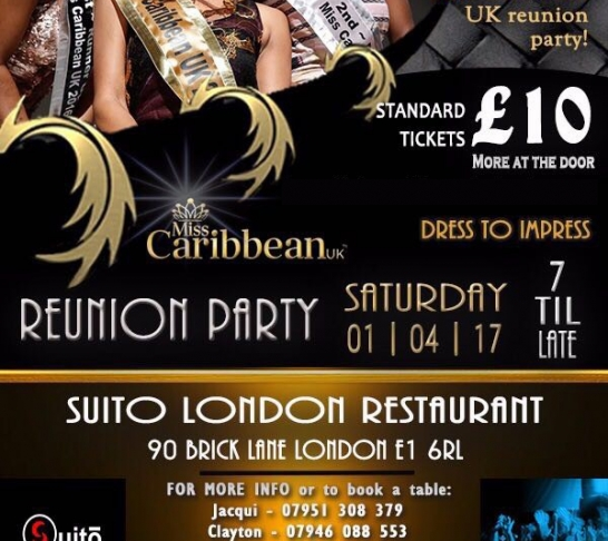 #MissCaribbean UK Reunion Party