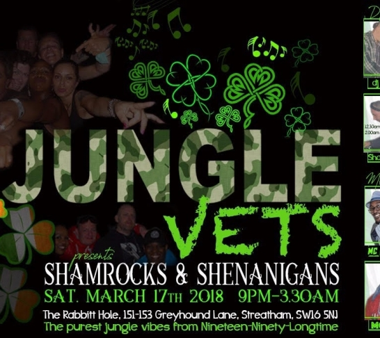 Jungle Veterans Presents Shamrocks and Shenannigans