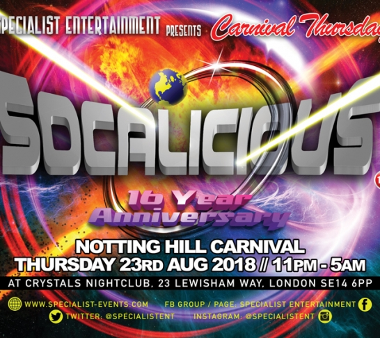 """SOCALICIOUS """"THE 16TH ANNIVERSARY"""""""