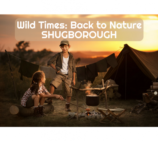 Wild Times: Back to Nature - Shugborough - Summer bushcraft sessions for the National Trust - Shelter and Fire